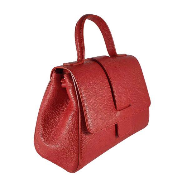 Analisa geanta din piele pentru doamne culoare rosu