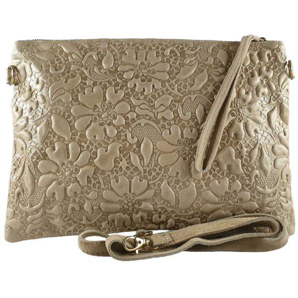 Fabiola geanta pentru dama din piele culoare bej