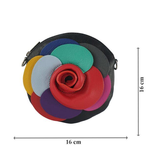 Poșeta dama din piele naturala Evelin-negru