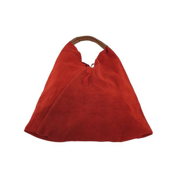 Geantă dama din piele naturala Gia-roșu