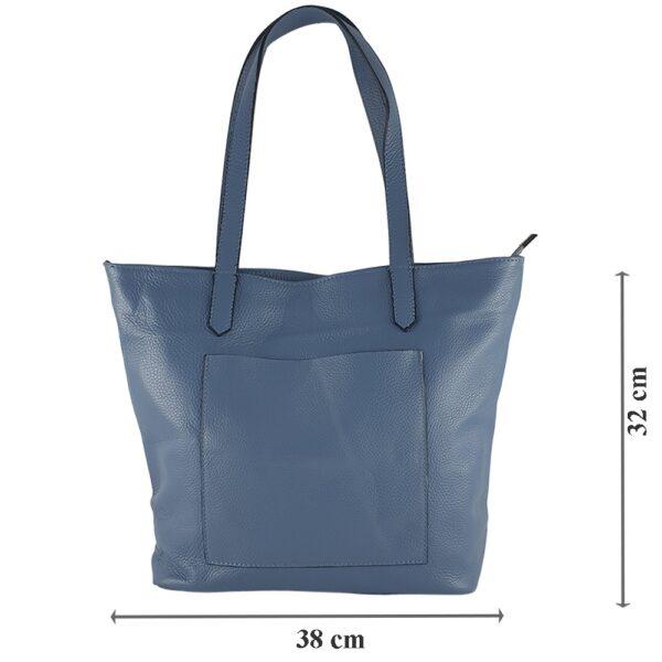 Geanta-shopper-din-piele-naturala-Mara-albastru