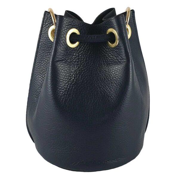 Georgia geanta de dama din piele culoare albastru inchis