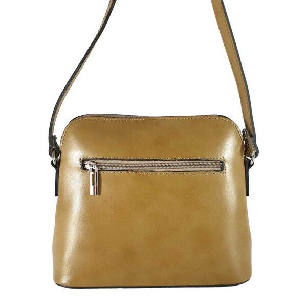 Ilaria geanta din piele culoare bej pentru dama