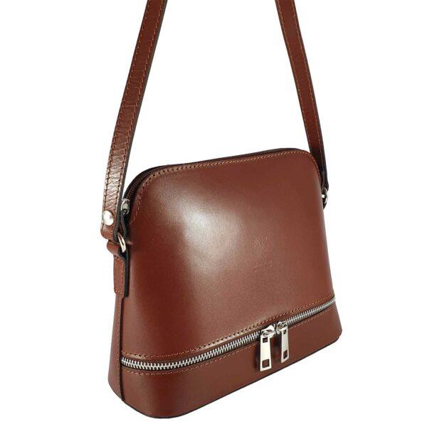 Ilaria geanta din piele culoare maro pentru dama