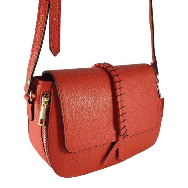 Marlen geanta din piele rosie pentru doamne