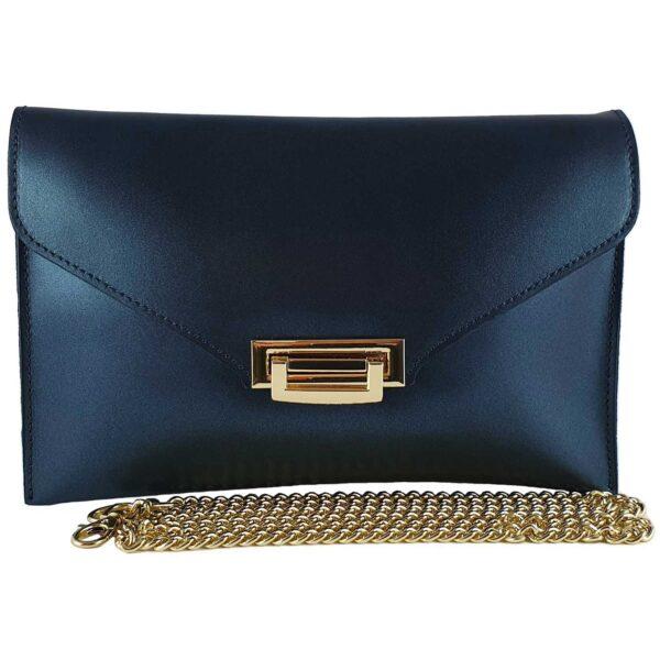 Sandra geanta din piele pentru doamne de culoare albastru electric