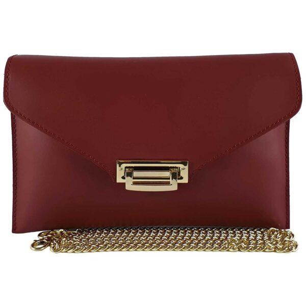 Sandra geanta din piele pentru doamne de culoare bordo