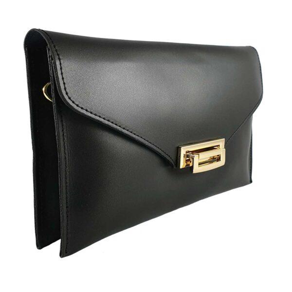 Sandra geanta din piele pentru doamne de culoare neagra