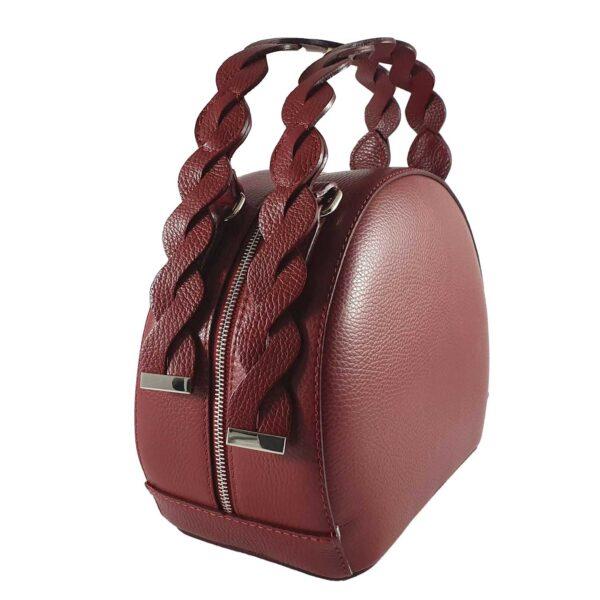 Stefania dama geanta din piele bordo
