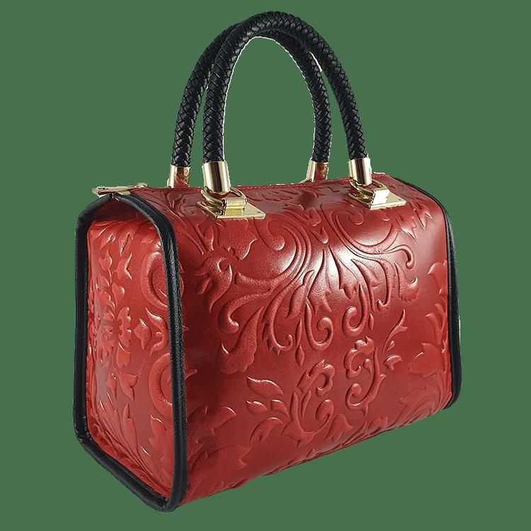 geanta dama piele rosu passpartu