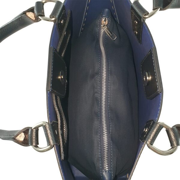 Geantă dama din piele naturala Valeria-negru