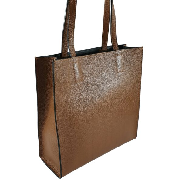 Geanta shopper din piele naturala Michela-maro