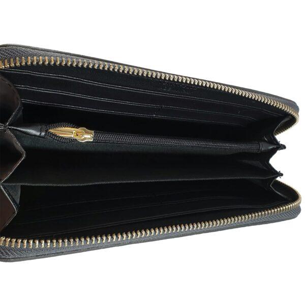 portofel din piele naturala gri metalizat 4