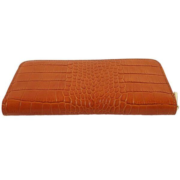 portofel din piele naturala portocaliu 3