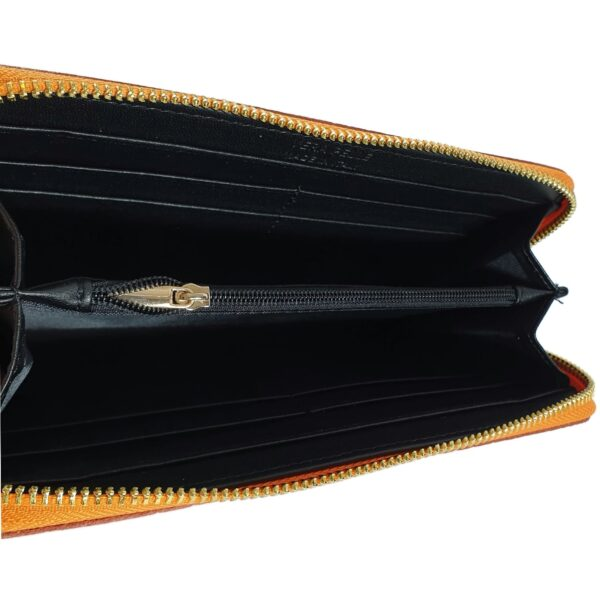 portofel din piele naturala portocaliu 4