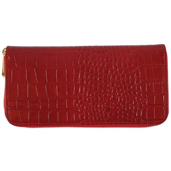 portofel din piele naturala rosu inchis 2