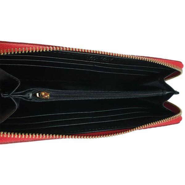portofel din piele naturala rosu inchis 3