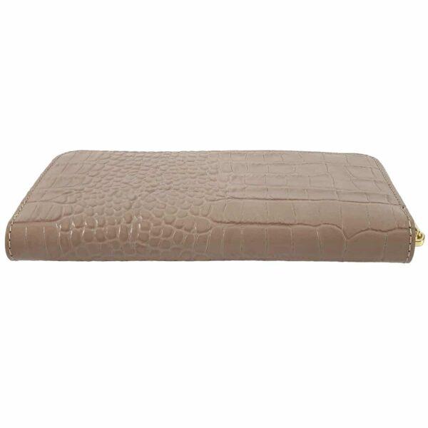 portofel din piele naturala roz antic 3
